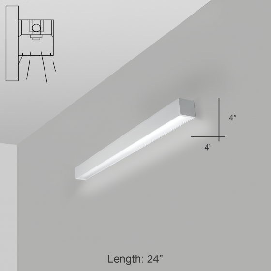 Alcon Lighting 11141-2-W i44 Series Architectural LED 2 Foot Linear Wall Mount Direct Light Fixture