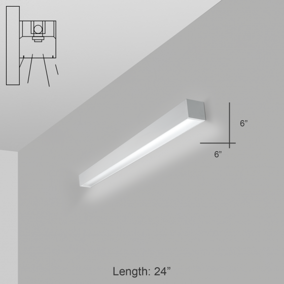 Alcon Lighting 11142 i66 Series Architectural LED Linear Wall Mount Direct Light Fixture