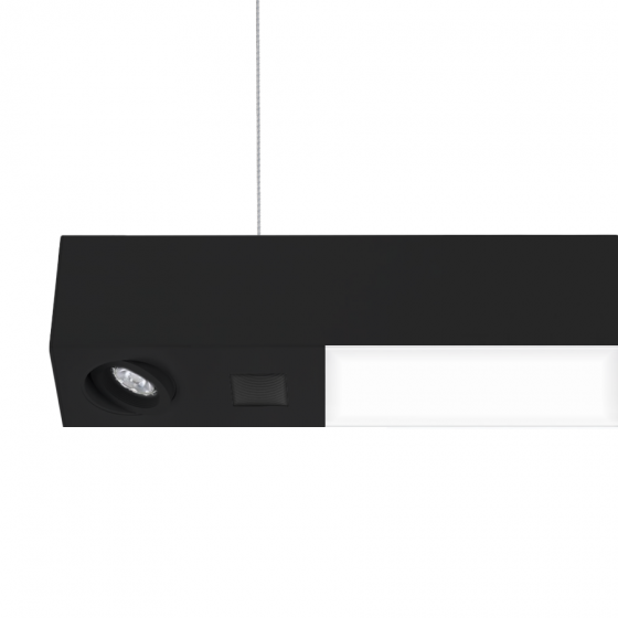 Alcon Lighting 12000-4-Tesla Quadro Architectural LED Linear Suspension Lighting Pendant Mount Direct/Indirect Fixture