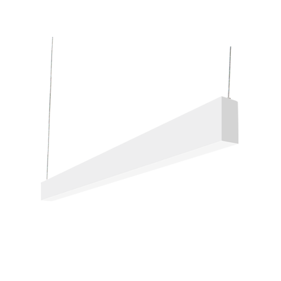 Alcon Lighting 12100-23-P-4 Continuum 23 Series Architectural LED Linear Pendant Mount Direct/Indirect Light Fixture - 4 Foot
