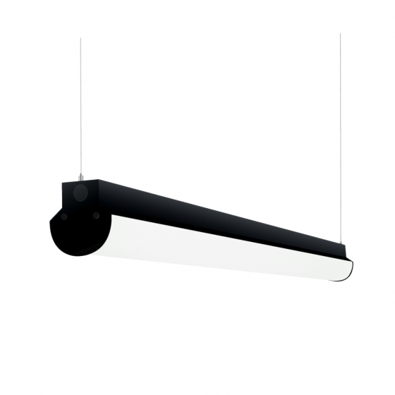 Alcon Lighting 12122-4 Lombardy Industrial Series Commercial LED 4 Foot Linear Suspension Pendant Direct Down Light Strip