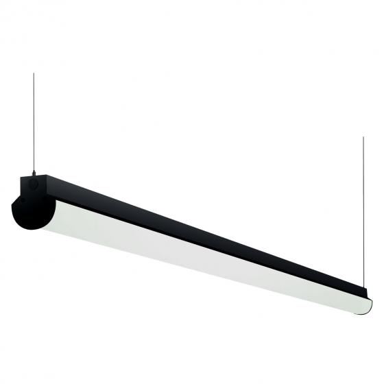 Alcon Lighting 12122-8 Lombardy Industrial Series Commercial LED 8 Foot Linear Suspension Pendant Direct Down Light Strip