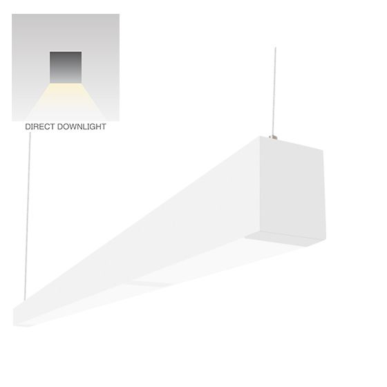 Alcon Lighting 12145-8 i253 Series Architectural LED 8 Foot Linear Suspended Pendant Mount Direct Light Fixture