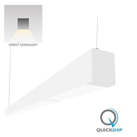 Alcon Lighting 32145-4 Beam 253 Series 4 Foot Linear Suspension Lighting LED Linear Pendant Architectural Lighting | 4000K - 2100 Lumen - Dimmable - White Finish
