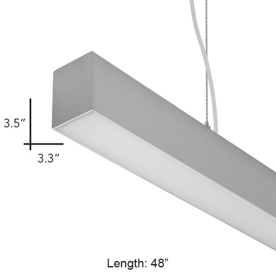 alcon lighting 12170-4 beam 33 architectural led 4 foot linear suspension  lighting pendant mount commercial light fixture | alconlighting com
