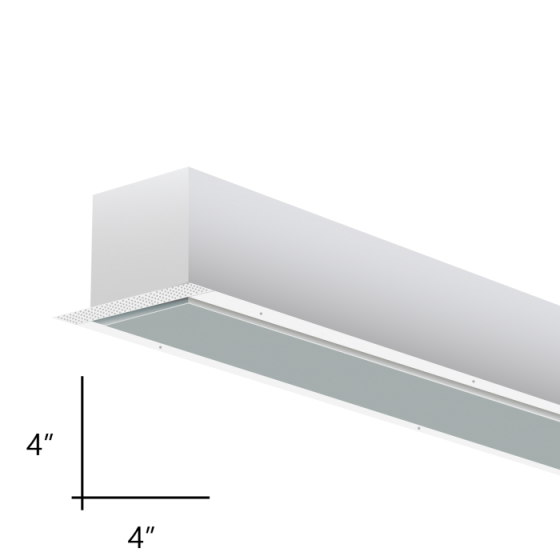 Alcon Lighting 12100-44-R-4 Continuum 44 Series Architectural LED Linear Recessed Mount Direct Down Light Fixture - 4 Foot