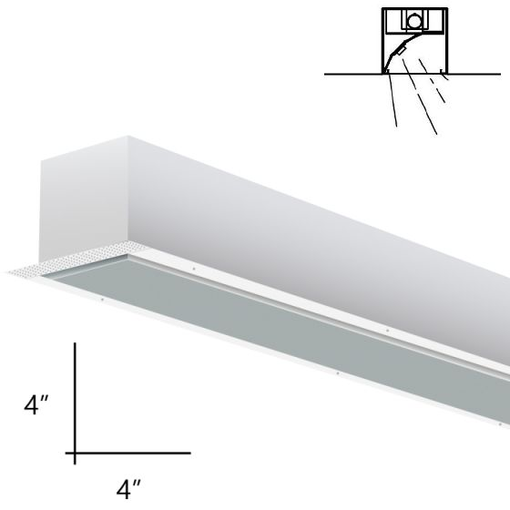 Alcon Lighting 14008-8-RWW Planor 44 Architectural LED 8 Foot Linear Recessed Mount Wall Wash Light Fixture