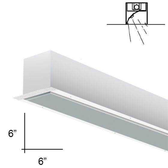 Alcon Lighting 14101-8-RWW Planor 66 Architectural LED 8 Foot Linear Recessed Wall Wash Light Fixture