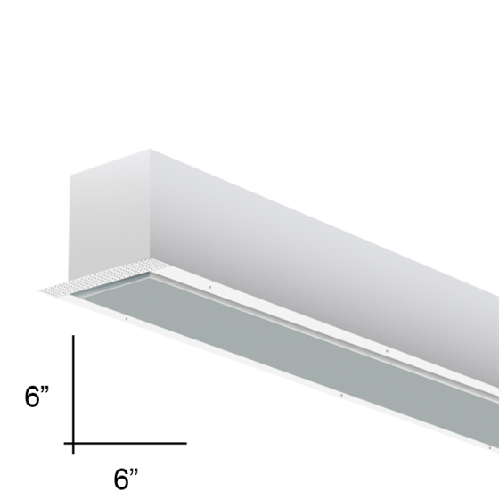 Alcon Lighting 12100-66-R-4 Continuum 66 Series Architectural LED Linear Recessed Direct Light Fixture - 4 Foot