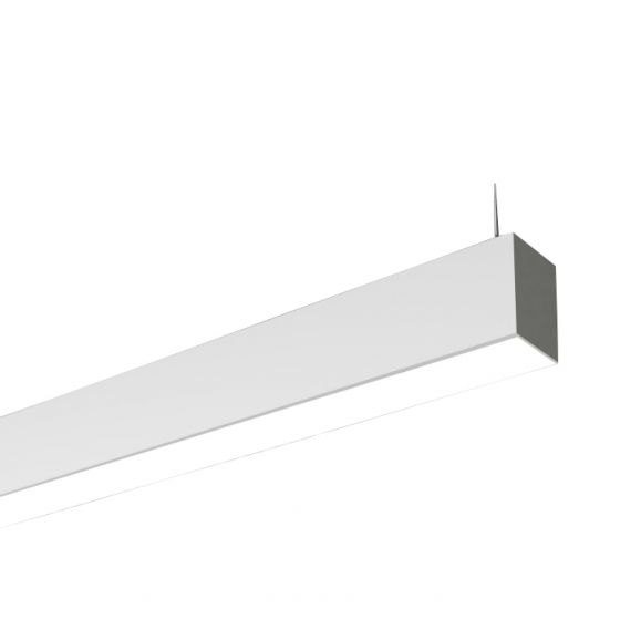 Cooper Neo-Ray S23IP-LED Slim Suspended 4 Inch Aperture LED Strip (Indirect) Up Lighting