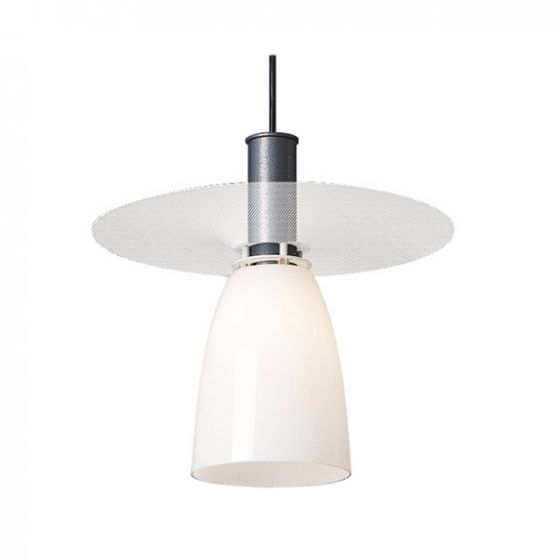 Delray 2070 Aspect Fluorescent Glass Decorative Pendant with Perforated Shade