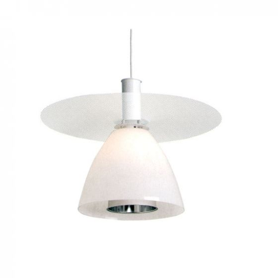 Delray 2130 Aspect Incandescent Glass Decorative Pendant with Perforated Shade