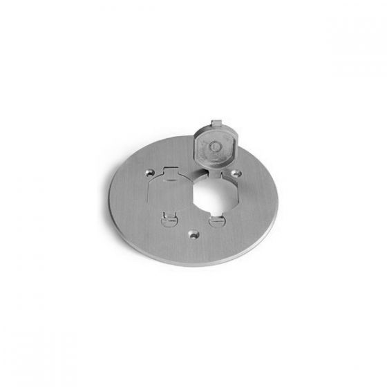 Lew Electric TCP-2-LR-A Seamless Aluminum Flanged Cover, with Dual Flid Lid and Duplex Mount
