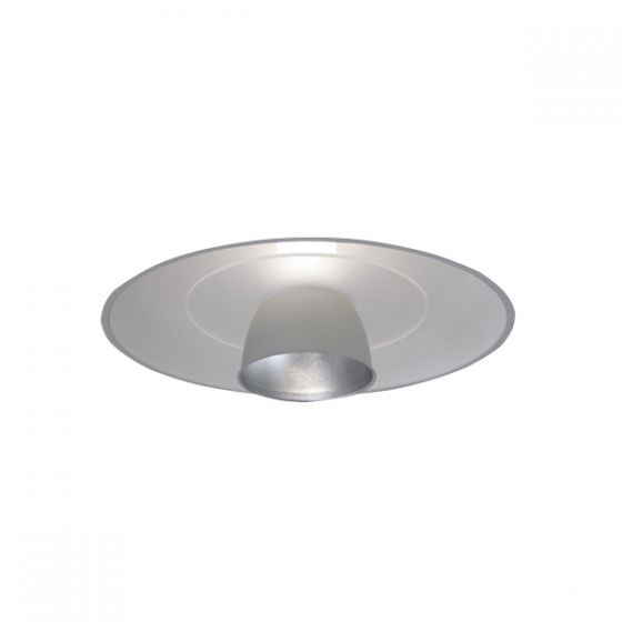 Delray Lighting 4720 21 Inch Semi-Recessed Fluorescent Downlight Metal Reflector