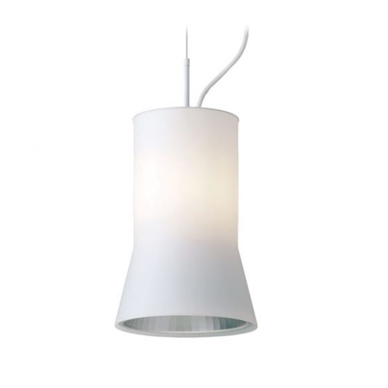 Delray Lighting 611 Kone Opal Glass Luminaire Pendant with Downlight