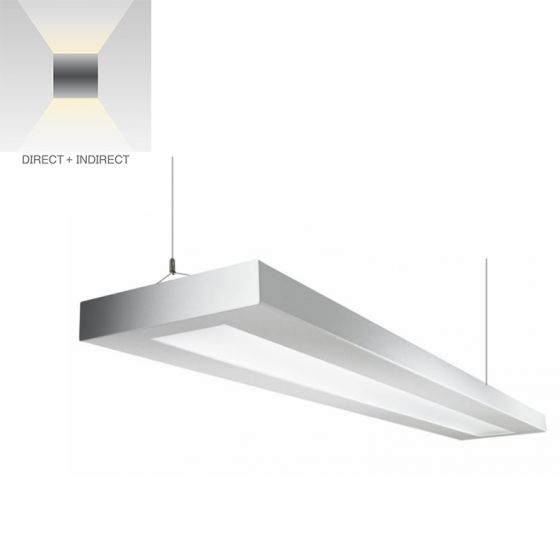 Alcon Lighting 12113 NLP Architectural LED Linear Suspended Pendant Mount Direct/Indirect Light Fixture