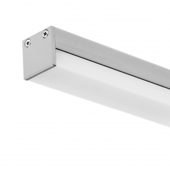 Alcon Lighting 12100-10-S Slim Continuum 10 Series Architectural LED Linear Surface Direct Down Light Fixture