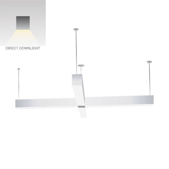Alcon Lighting 12107-2X Continuum 44 Cross Series LED Linear Suspended Pendant Office Light Fixture