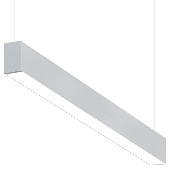 Alcon Lighting 10101-4 Beam Series 4 Foot Fluorescent Suspended Pendant Direct/Indirect Light Strip