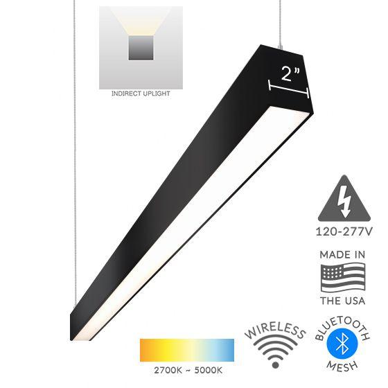 Black Linear LED Suspension Light Fixture