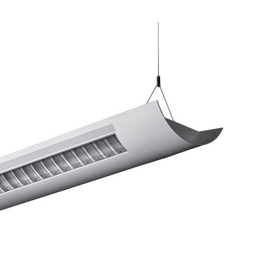 Alcon Lighting Catalina 10106-4  4 Foot T8 and T5HO Fluorescent Architectural Linear Suspension Direct Indirect Lighting Fixture