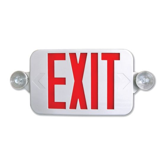 Alcon Lighting 16108 EMEXCLP Architectural LED Low Profile Aluminum Exit Sign & Emergency Light Combo