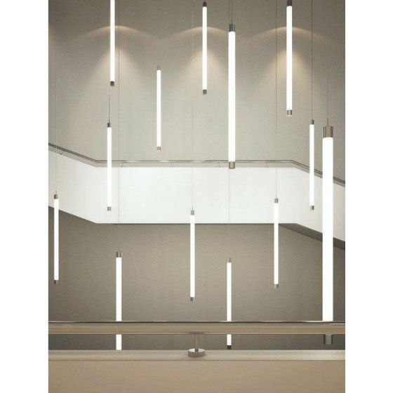 Alcon Lighting 12143 Tube Stick Architectural LED Vertical Cylinder Pendant Light Fixture