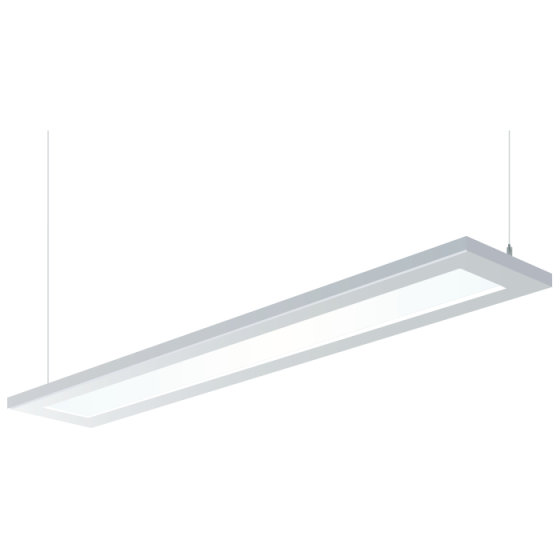 H.E. Williams FP2-8 Beveled Luminous Flat Panel Fluorescent Suspended Light Fixture - 8 FT