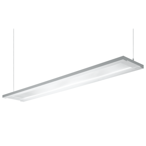 H.E. Williams FP4 Step-Up Luminous Flat Panel Fluorescent Suspended Light Fixture - 4 FT