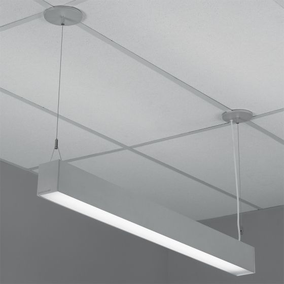 Lightolier H-Profile Direct Pendant Lensed T5 Fluorescent Fixture
