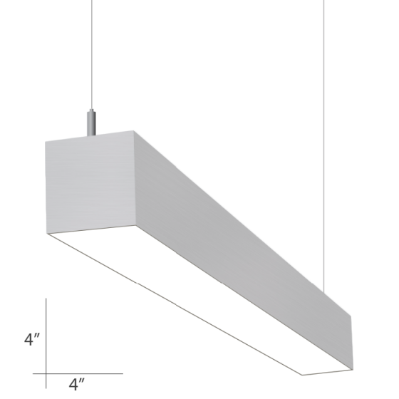 Alcon Lighting 12111-4 i44 Series Architectural LED 4 Foot Linear Suspended Pendant Mount Direct Light Fixture