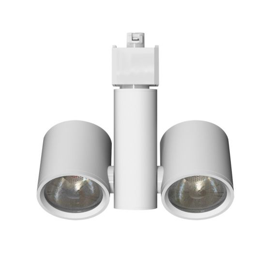 Alcon Lighting 14132 Eve Architectural LED Dual Head Cylo Swivel Cylinder Track Head