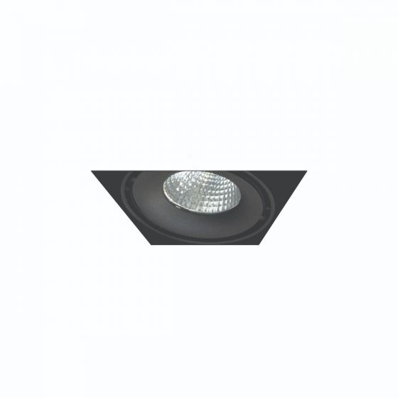 Alcon Lighting 14026-1 Oculare Architectural LED Trimless Adjustable 1 Head Multiple Recessed Lighting System Direct Down Fixture