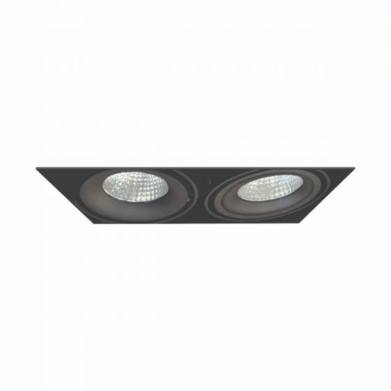 Alcon Lighting 14026-2 Oculare Architectural LED Trimless Adjustable 2 Heads Multiple Recessed Lighting System Direct Down Fixture