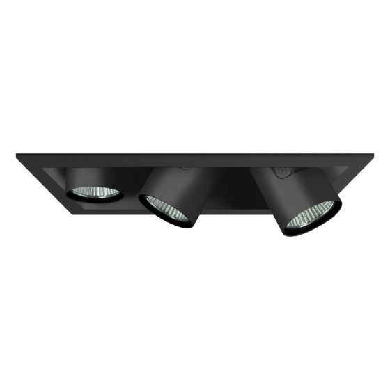 Alcon Lighting 14113-3 Oculare Pull-Down Architectural LED Trimless and Flanged Adjustable 3 Heads Multiple Recessed Lighting System Direct Down Fixture