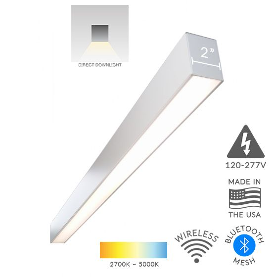 Alcon Lighting 12100-23-S Continuum 23 Series Architectural LED Linear Surface Mount Direct Down Light Fixture
