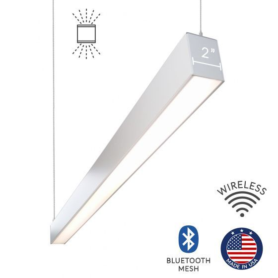 Alcon Lighting 12100-20-P Continuum 20 Series Architectural LED Linear Pendant Mount Direct/Indirect Light Fixture