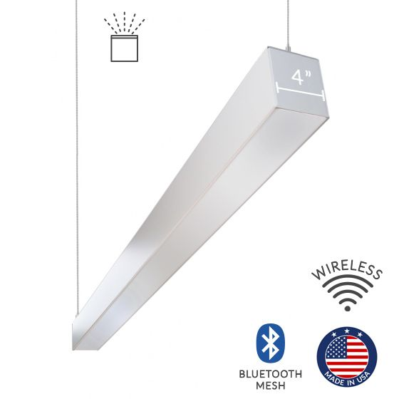 Alcon Lighting 12100-44-P-I-4 Continuum 44 Architectural LED Linear Pendant Mount Indirect Up Light Fixture - 4 Foot