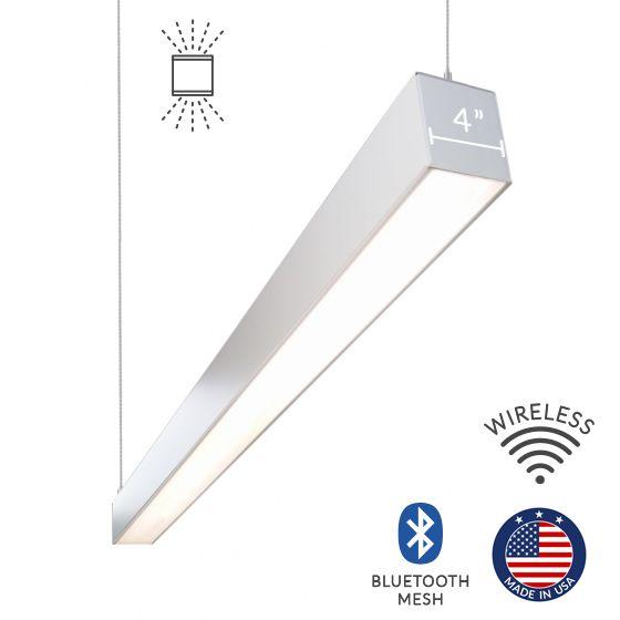 Alcon Lighting 12100-45-P Continuum 45 Series Architectural LED Linear Pendant Mount Direct/Indirect Light Fixture
