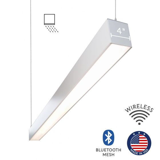 Alcon Lighting 12100-44-P-WW Continuum 44 Series Architectural LED Linear Pendant Mount Wall Wash Light Fixture