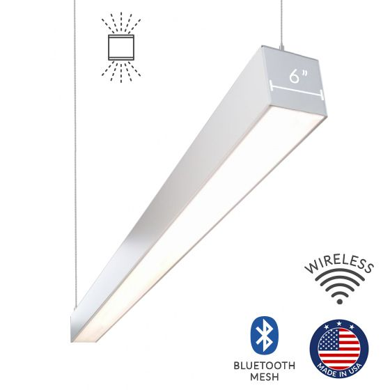 Alcon Lighting 12100-66-P Continuum 66 Series Architectural LED Linear Pendant Mount Direct/Indirect Light Fixture