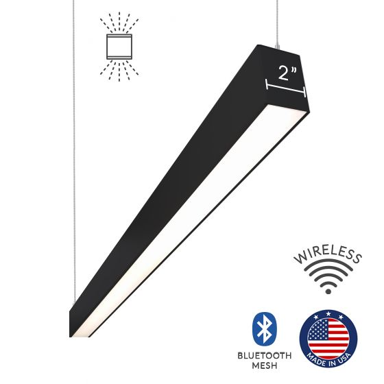Alcon Lighting 12100-23-P Continuum 23 Series Architectural LED Linear Pendant Mount Direct/Indirect Light Fixture
