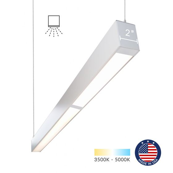 Alcon Lighting 12200-2-P-8 RFT Series Architectural LED 8 Foot Linear Suspended Pendant Mount Direct Light Fixture