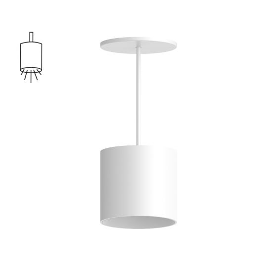 Alcon Lighting 12302-P Cilindro I Architectural LED Small Modern Cylinder Pendant Mount Direct Light Fixture