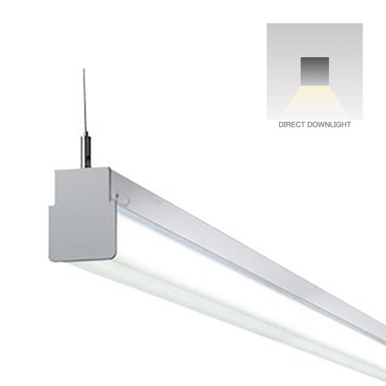 Alcon Lighting 12171-4 Block Architectural LED 4 Foot Linear Suspension Lighting Pendant Mount Direct Light Strip