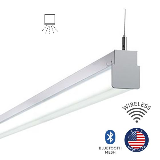 Alcon Lighting 12171-8 Block Architectural LED 8 Foot Linear Suspension Lighting Pendant Mount Direct Light Strip
