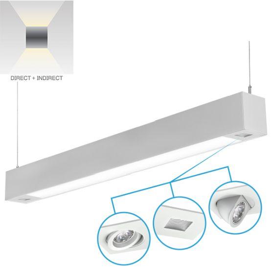 Alcon Lighting 12000-2 Tesla Dual Spot Light Architectural LED Linear Suspension Lighting Pendant Mount Direct/Indirect Fixture