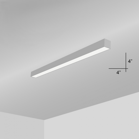 Alcon Lighting 12100-44-S Continuum 44 Series Architectural LED Linear Surface Mount Direct Down Light Fixture