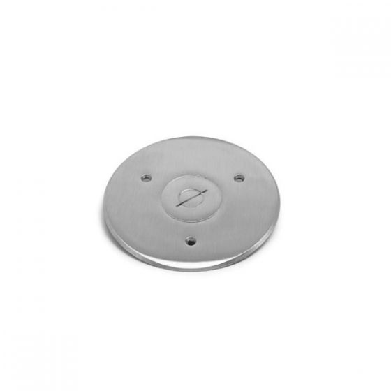 Lew Electric TCP-1-NS 2 - 1/2 Inch Combo Plug for Communication / Data or Single Receptacle Nickel Silver Flanged Cover