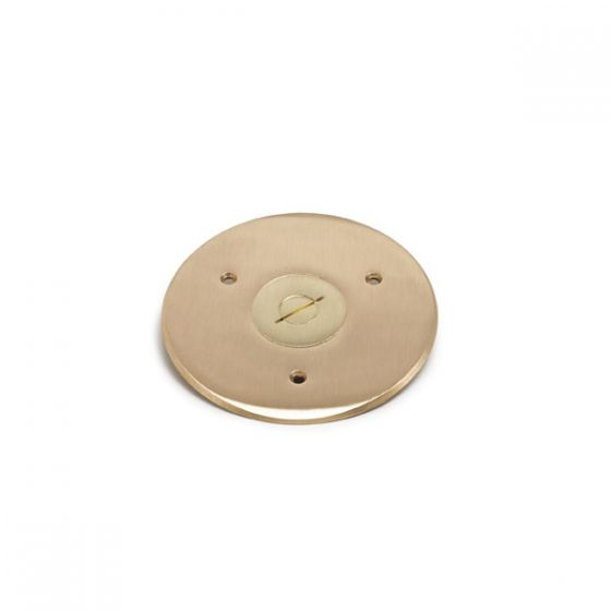 Lew Electric TCP-1 2 - 1/2 Inch Combo Plug for Communication / Data or Single Receptacle Brass Flanged Cover